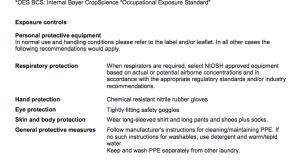 bed bug warning label on pesticide